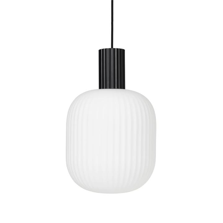 Die Lolly Pendelleuchte von Broste Copenhagen in schwarz / weiß, Ø 27 cm