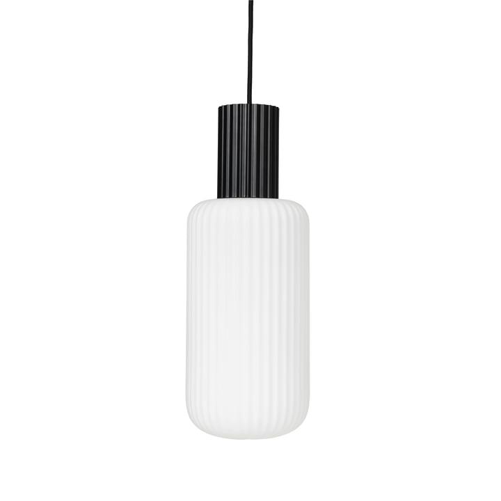 Die Lolly Pendelleuchte von Broste Copenhagen in schwarz / weiß, Ø 16 cm