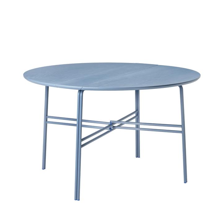 Der Oda Tisch von Broste Copenhagen in blau, Ø 120 cm