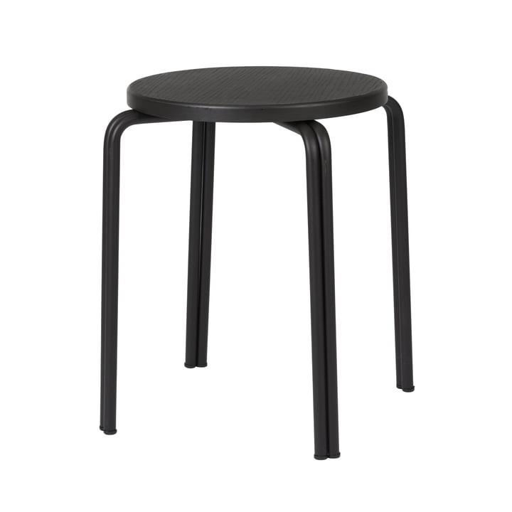 Der Oda Hocker von Broste Copenhagen in schwarz