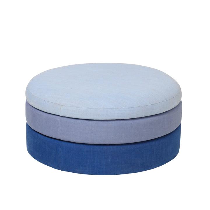 Der Pond Pouf von Broste Copenhagen in blue shades, Ø 38 x H 42 cm