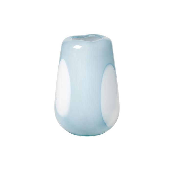 Die Ada Dot Vase von Broste Copenhagen in plein air light blue, Ø 18 x H 26 cm