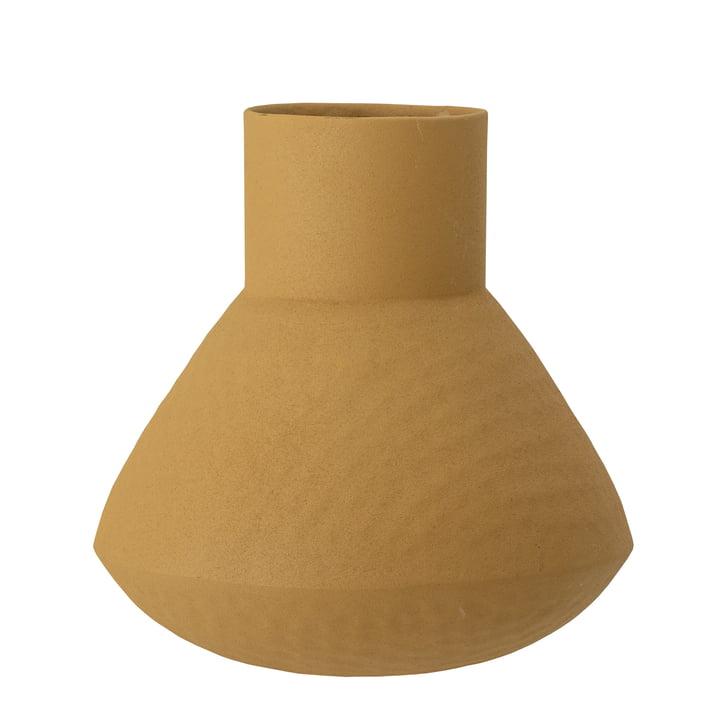 Die Isira Vase von Bloomingville in gelb, H 20,5 cm
