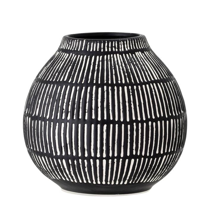 Die Elceda Vase von Bloomingville in schwarz, H 14,5 cm