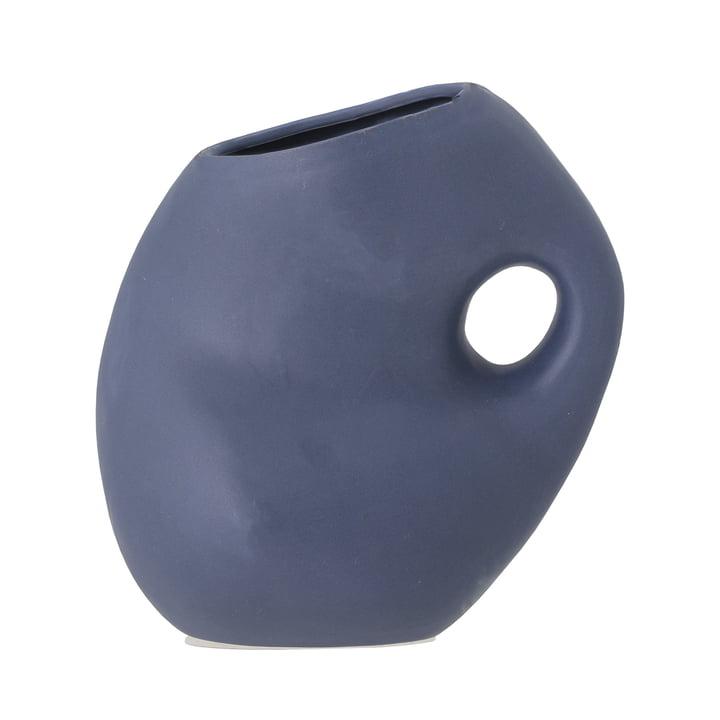 Die Asya Vase von Bloomingville in blau H, 16 cm
