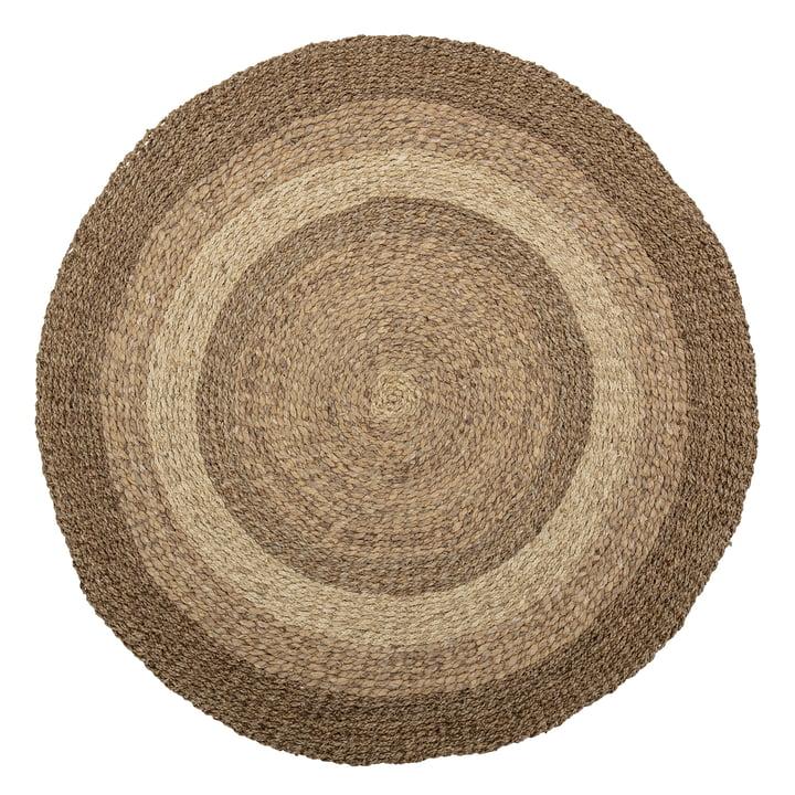 Der Malic Teppich von Bloomingville, Ø 150 cm, Seegras natur