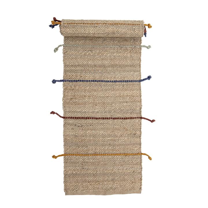 Der Claas Teppich von Bloomingville, 200 x 50 cm, Jute natur