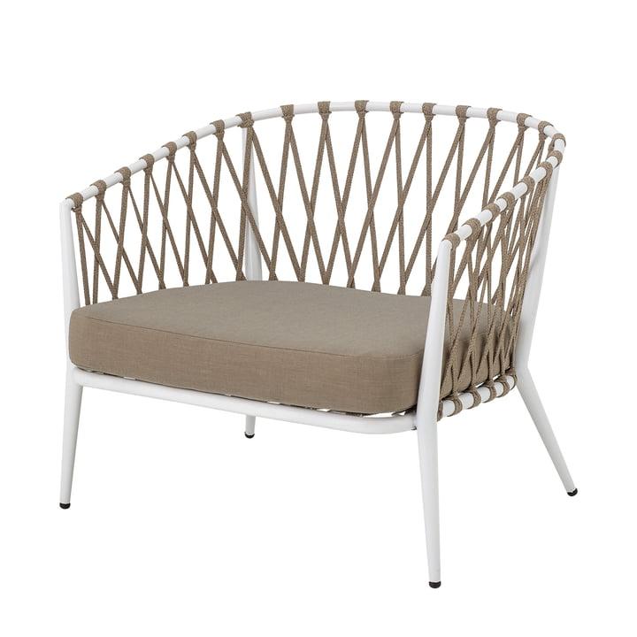 Cia Lounge Chair Outdoor von Bloomingville in weiß / braun
