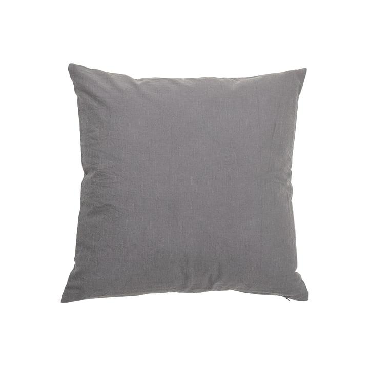 Das Kissen Velvet von Bloomingville in grau, 50 x 50 cm