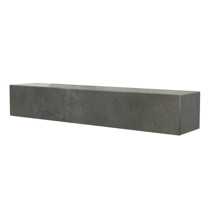 Das Plinth Regal von Menu in Marmor braun / grau, L 60 cm