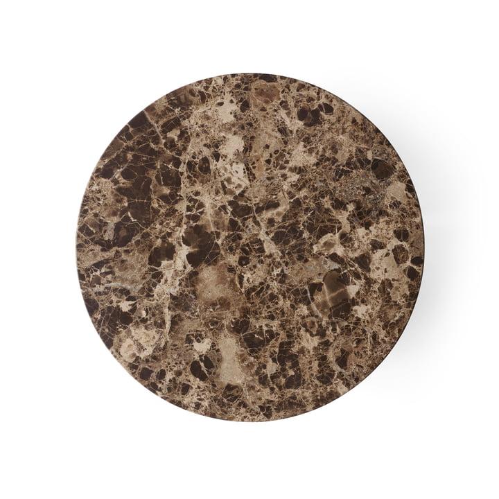 Menu - Tischplatte für Androgyne Beistelltisch Ø 42 cm, Emperador Dark Marble