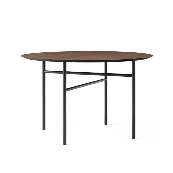 Snaregade Tisch, Ø 120 cm, Eichenfurnier schwarz gebeizt (dunkel) von Menu