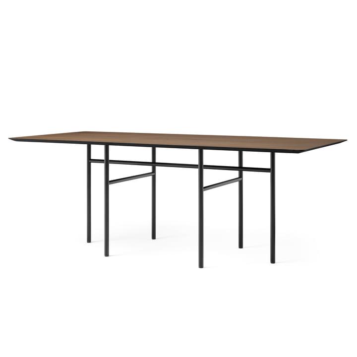 Snaregade Table, rechteckig, 90 x 200 cm, schwarz / Eiche gebeizt von Menu