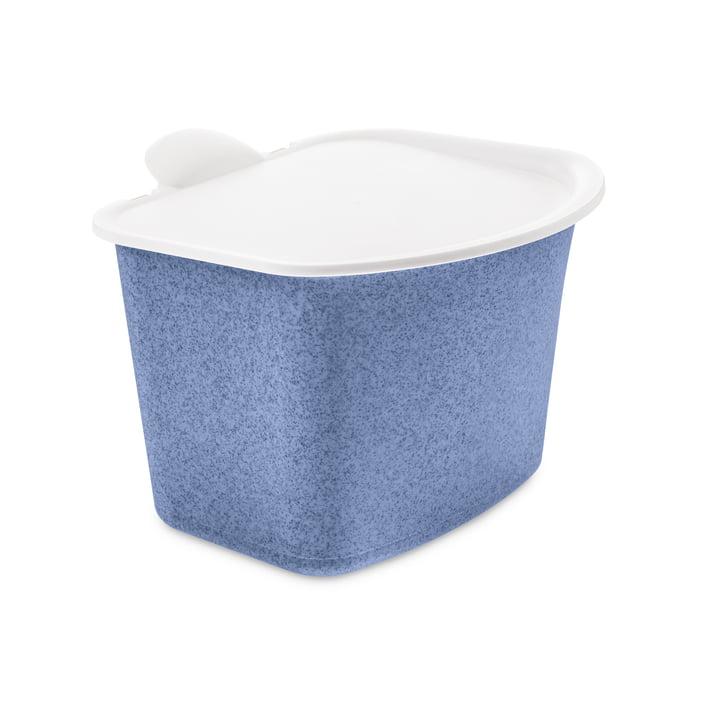 Der BIBO Bio Abfall Behälter von Koziol in organic blue