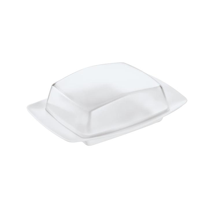Die RIO Butterdose von Koziol, crystal clear / cotton white
