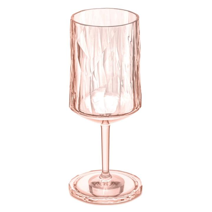 Das CLUB NO. 4 Superglas von Koziol, 0.3 l, transparent rose quartz