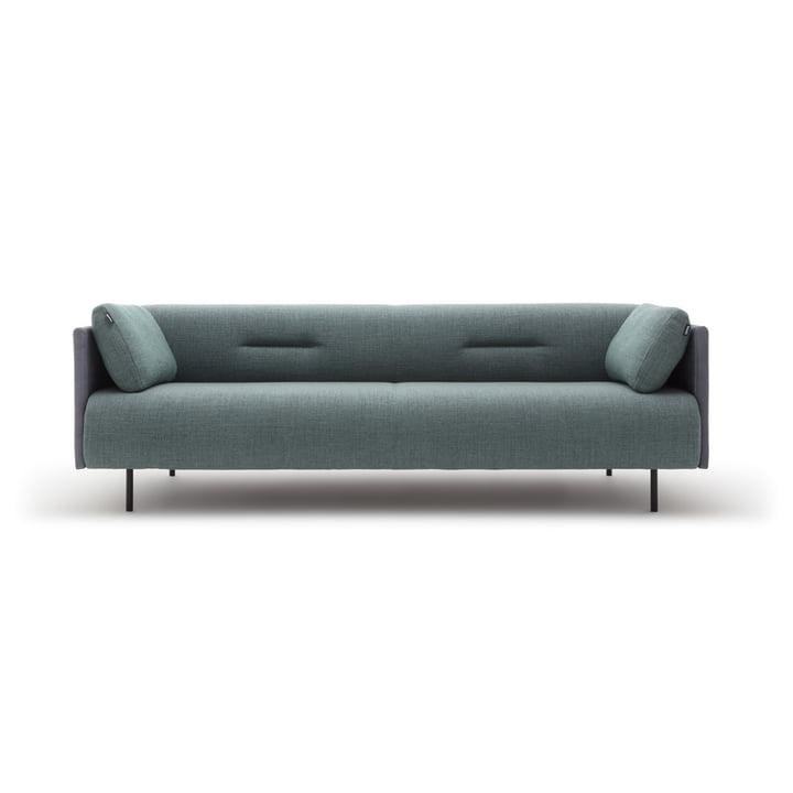Das 131 Sofa von freistil als 3-Sitzer, schwarzgrün / graphitgrau