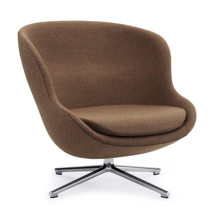 Der Hyg Lounge-Sessel mit Drehgestell von Normann Copenhagen, Aluminium / Synergy