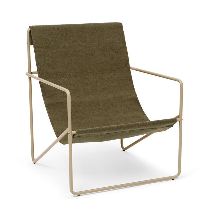 Der Desert Lounge Chair von ferm Living in cashmere / olive