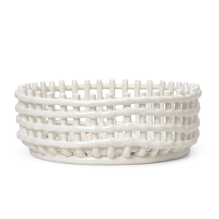 Das Keramik Centerpiece von ferm Living in off-white