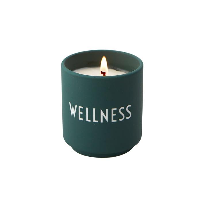 Die Duftkerze klein von Design Letters, Wellness / dunkelgrün