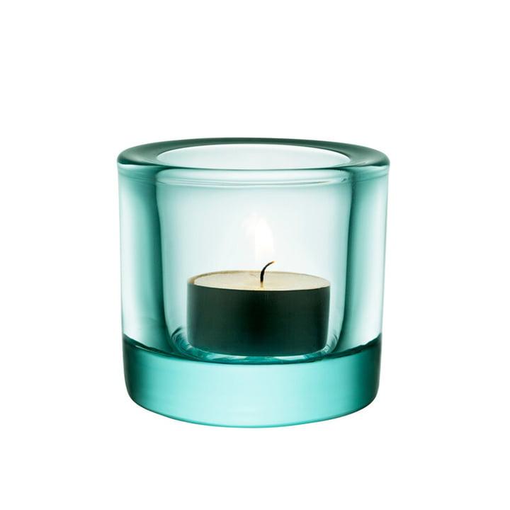 Der Kivi Teelichthalter von Iittala in wassergrün