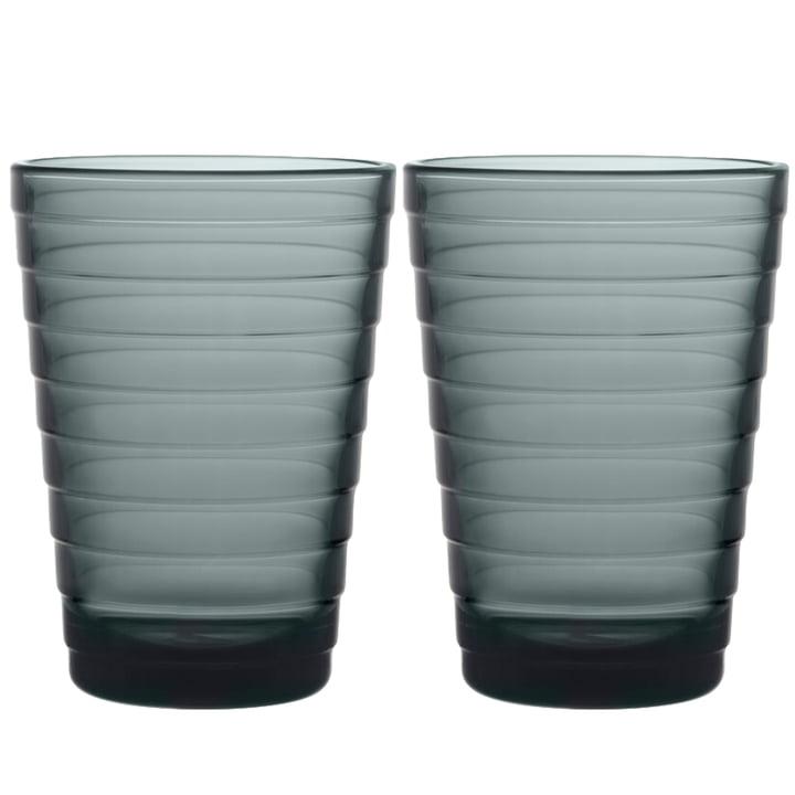 Das Aino Aalto Longdrinkglas von Iittala, 33 cl, dunkelgrau (2er-Set)