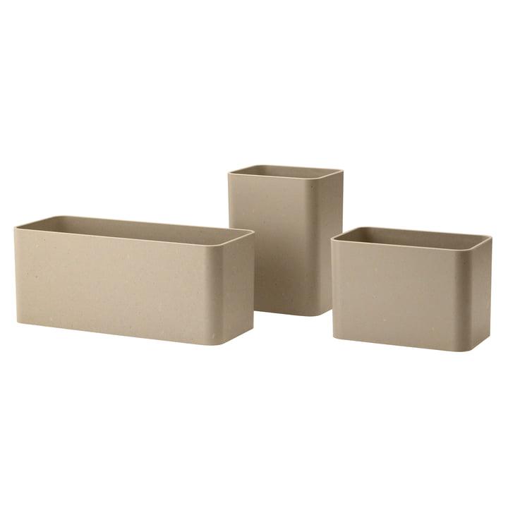 Aufbewahrungsboxen, beige (3er-Set) von String