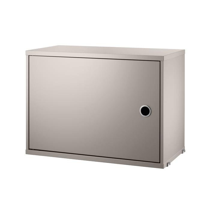 Schrankmodul mit Tür, 58 x 30 cm, beige von String