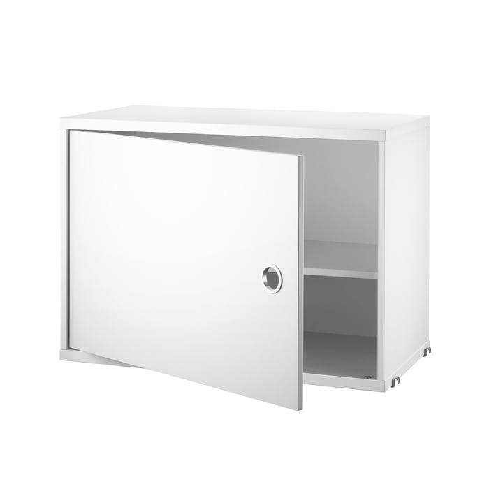 Schrankmodul mit Tür, 58 x 30 cm, weiß von String