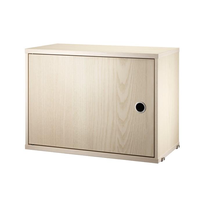 Schrankmodul mit Tür, 58 x 30 cm, Esche von String