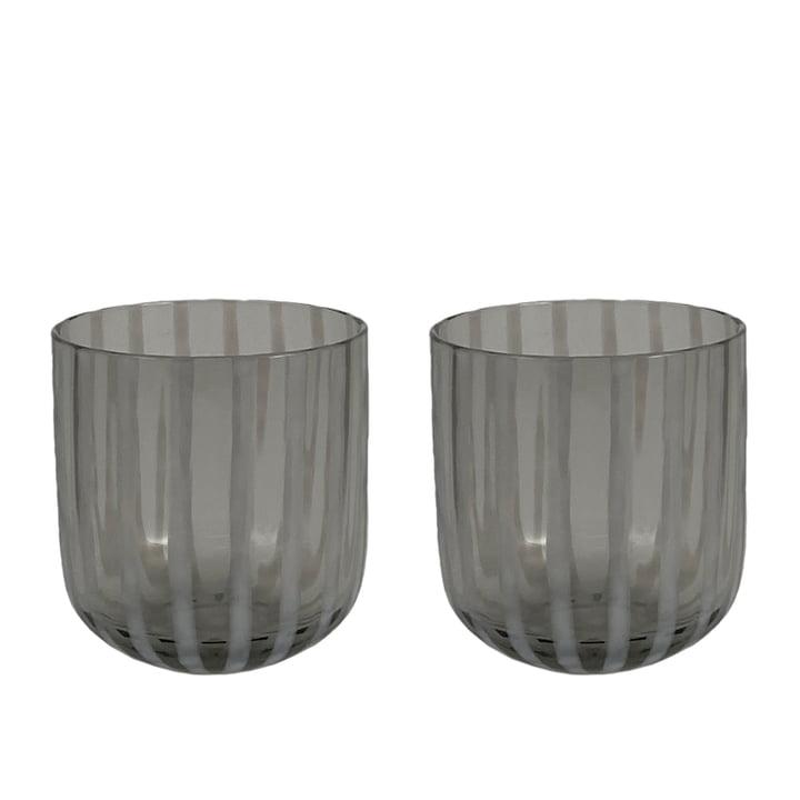 Das Mizu Trinkglas von OYOY, grau (2er-Set)