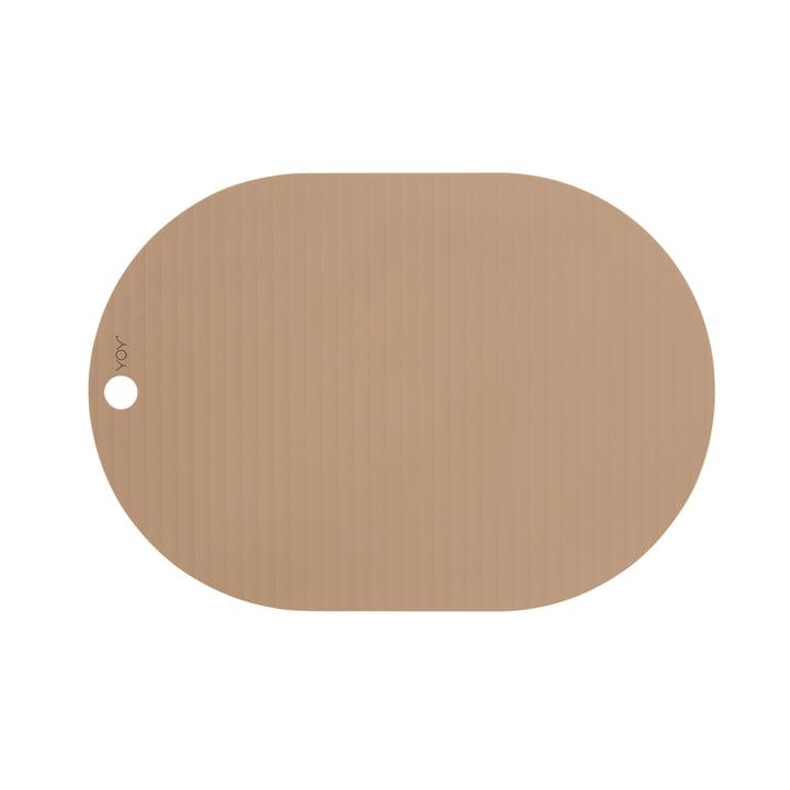 Das Ribbo Tischset oval von OYOY, kamel