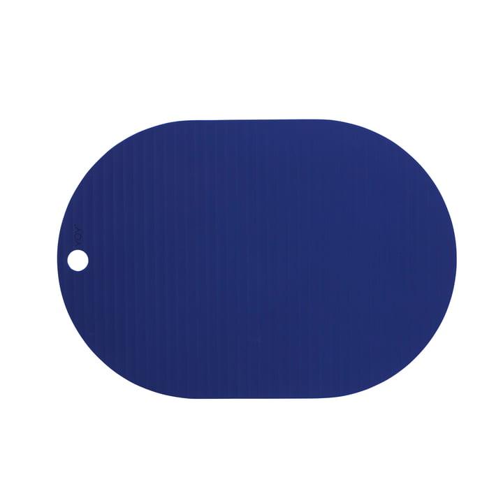 Das Ribbo Tischset oval von OYOY, optik blau