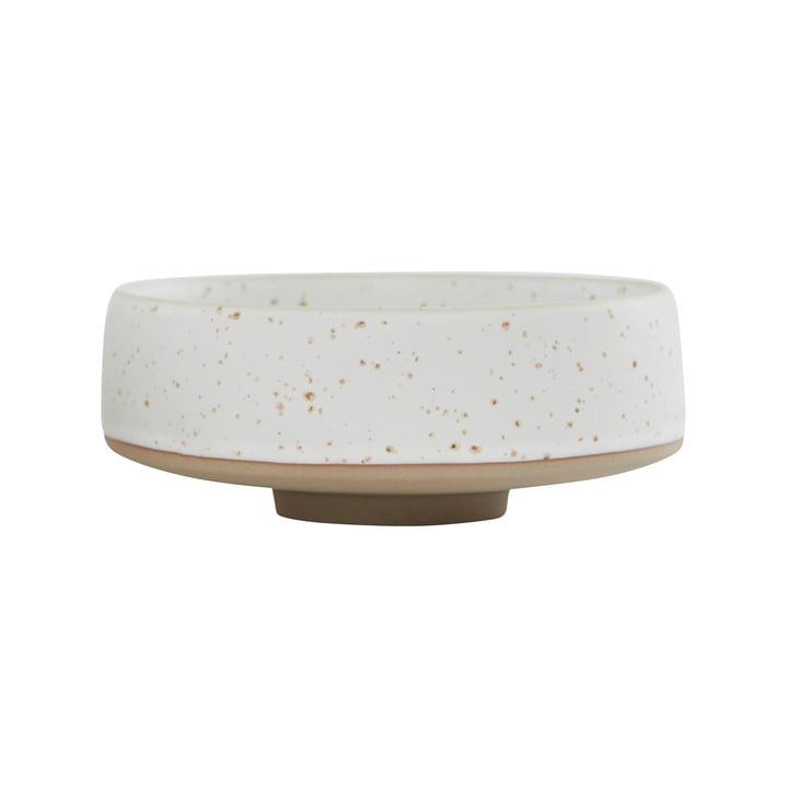 Die Hagi Schale von OYOY, Ø 17 x H 7 cm, weiß / hellbraun