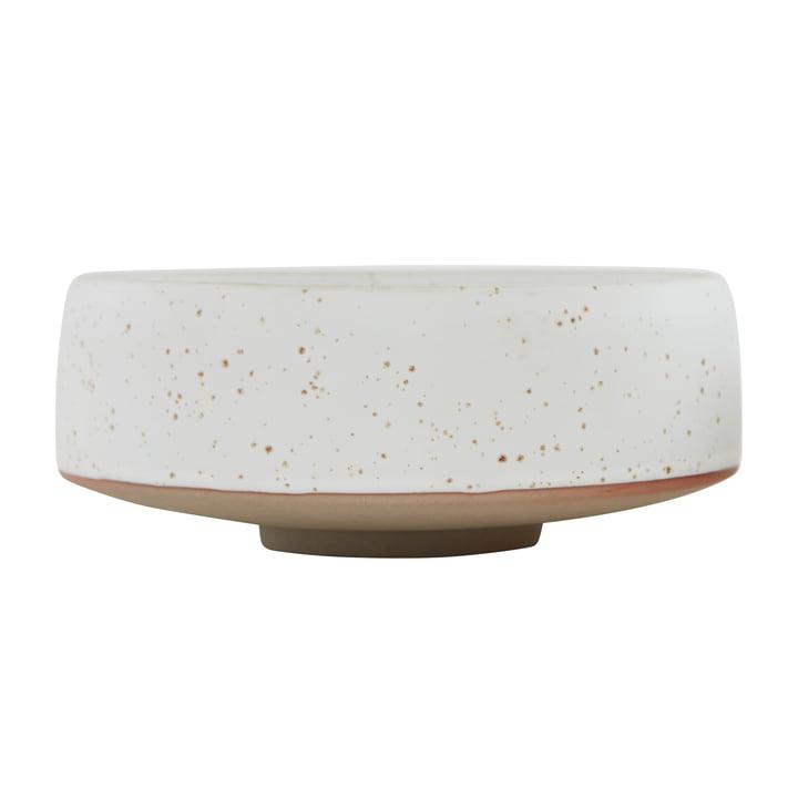 Die Hagi Schale von OYOY, Ø 20 x H 8,5 cm, weiß / hellbraun