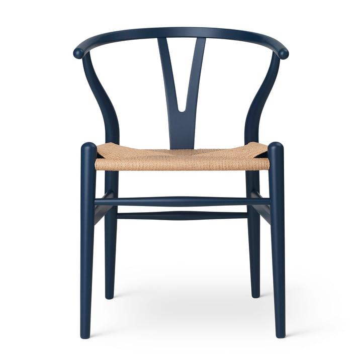 Carl Hansen - CH24 Wishbone Chair, soft blue / Naturgeflecht