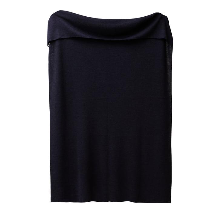 Aymara Decke, 130 x 190 cm, einfarbig dunkelblau von Form & Refine