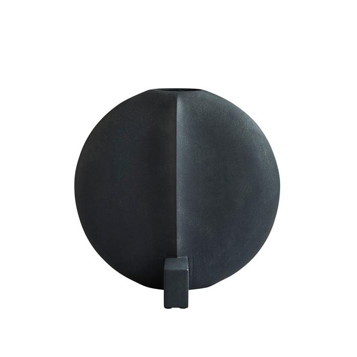 Die Guggenheim Vase Large von 101 Copenhagen, schwarz