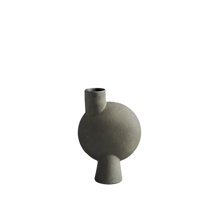 Die Sphere Vase Bubl Medio von 101 Copenhagen, dunkelgrau