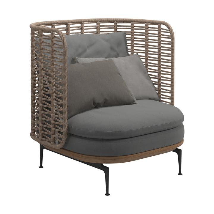 Der Mistral Lounge Sessel von Gloster in grau