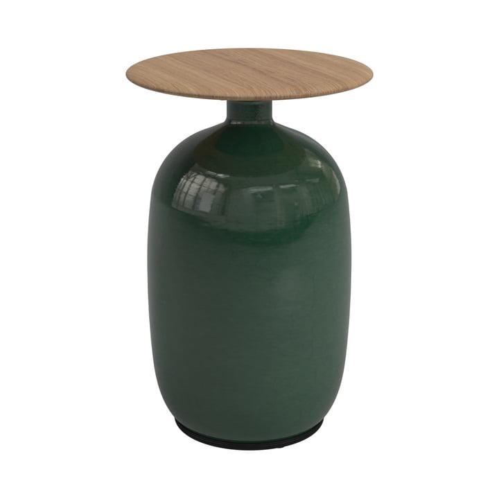 Der Blow Beistelltisch high von Gloster, Ø 36 x H 52,5 cm, emerald green