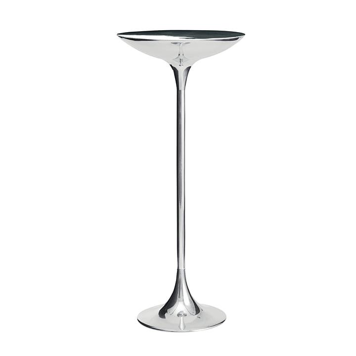Der PING II Tisch von Driade, Aluminium poliert