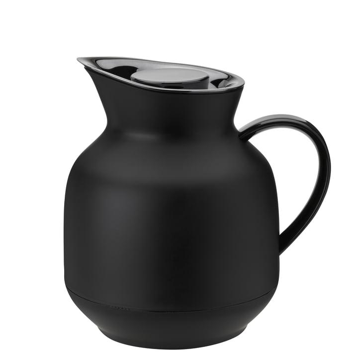 Die Amphora Teeisolierkanne von Stelton, 1 l, soft black