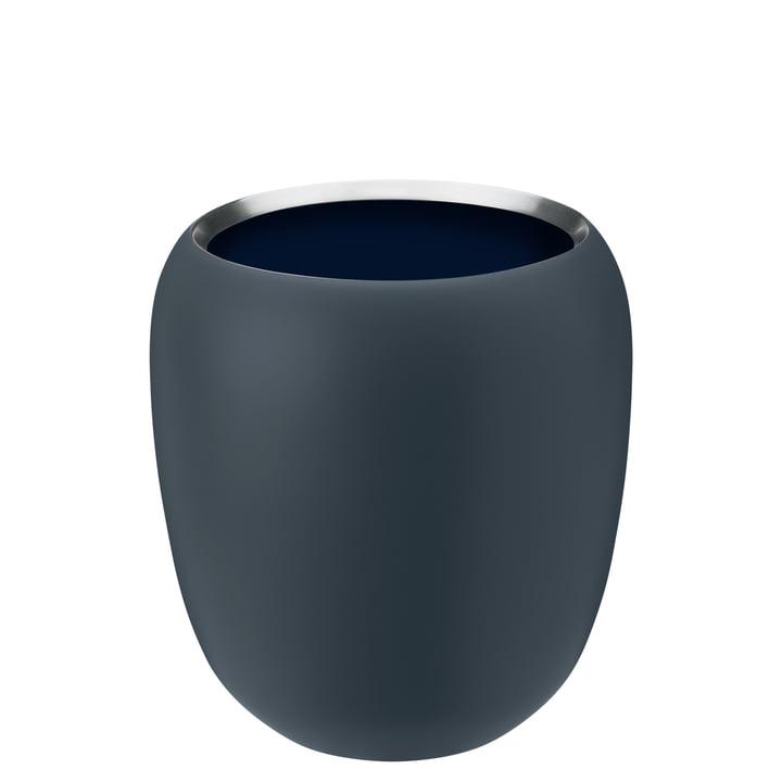 Die Ora Vase klein von Stelton, dusty blue / midnight blue