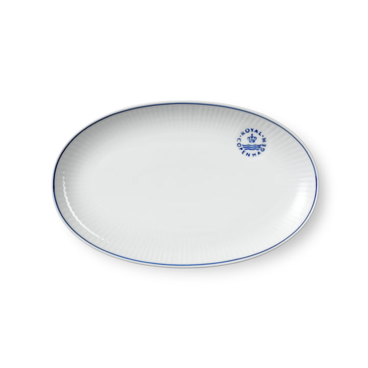 Blueline Servierplatte oval, 23 cm von Royal Copenhagen