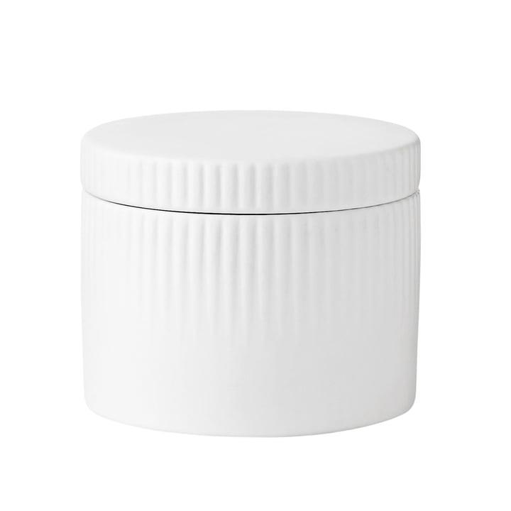 Der Pleat Salztopf von Stelton in weiß