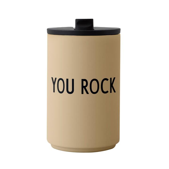 Der Thermo Cup von Design Letters, 0.35 l, You Rock, beige
