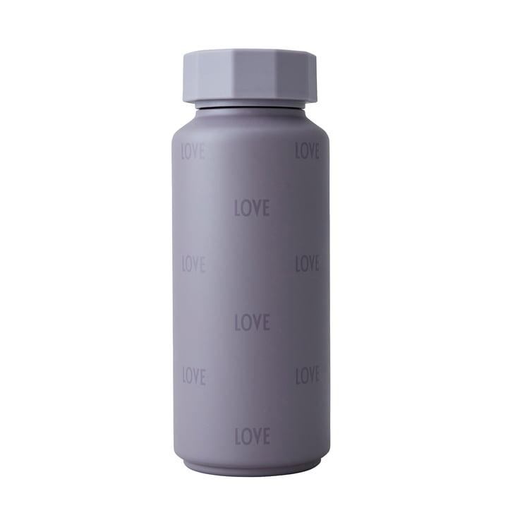 Die AJ Thermosflasche Hot & Cold von Design Letters, 0,5 l, Love / dusty purple (Sonderedition)