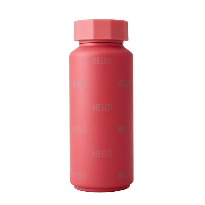 Die AJ Thermosflasche Hot & Cold von Design Letters, 0,5 l, Hello / red berry (Sonderedition)